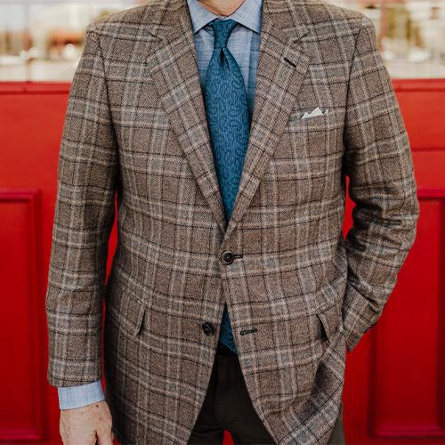 Khaki Copply Cashmere Sport Coat